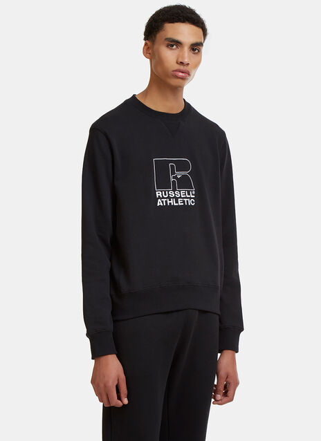 Embroidered Logo Crew Neck Sweater