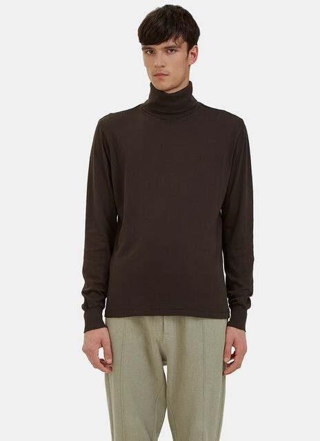 Long Sleeved Roll Neck T-Shirt