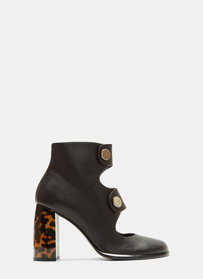 Image of Alter Nappa Buttoned Ankle Boots
