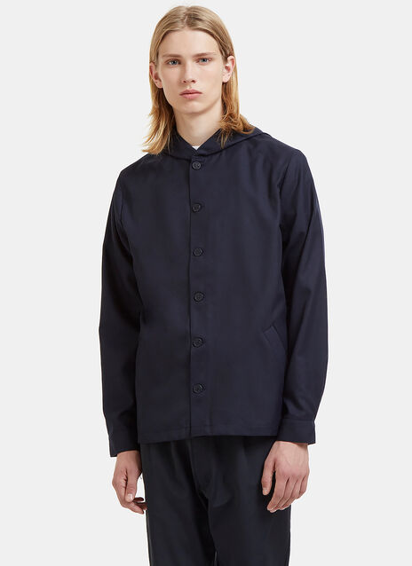 Gabargine Hooded Shirt