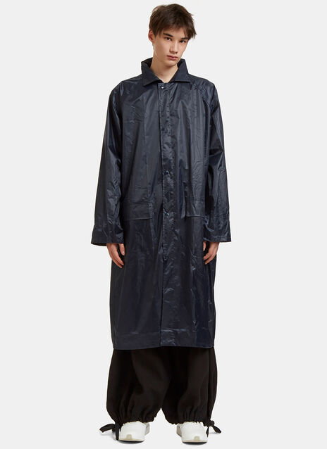 Oversized Large Logo Embroidered Raincoat