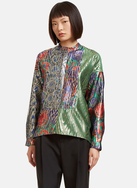Metallic Jacquard Tunic Shirt