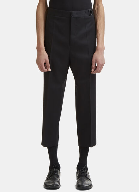 Grosgrain Belted Straight Leg Pants