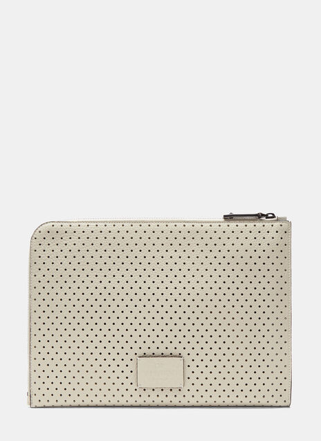 Perforated Leather Document Case