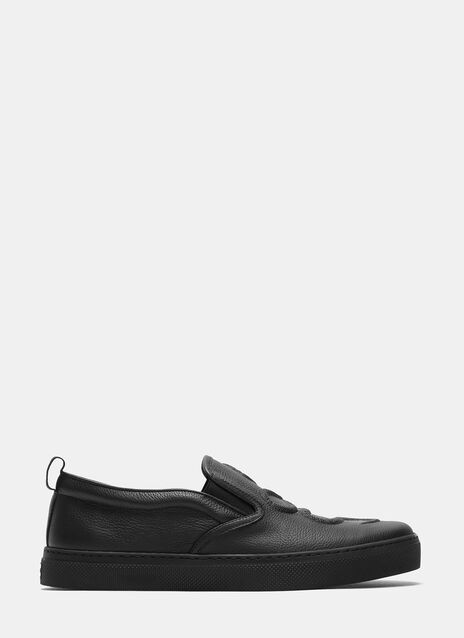 Dublin Snake Embossed Slip-On Sneakers