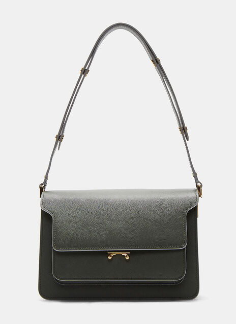Marni Medium Leather Trunk Shoulder Bag