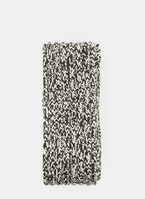 Saint Laurent Chevron Knit Thick Ribbed Scarf
