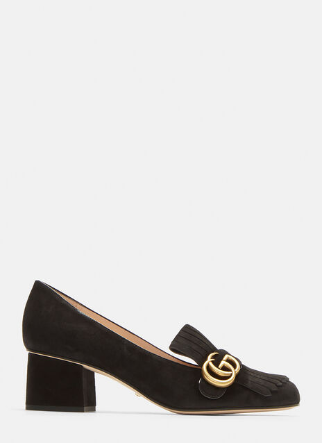 Gucci GG Mid-heel fringed Marmont Pumps