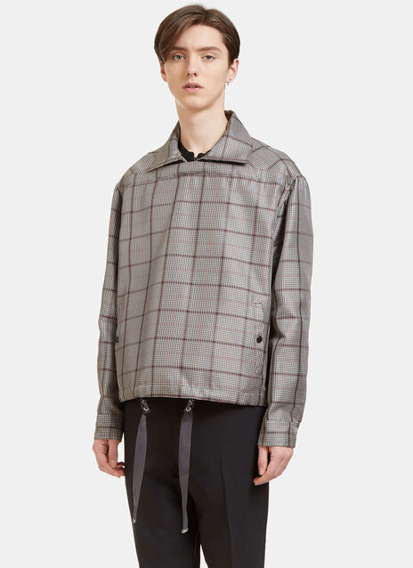 Horizontal Checked Jacket