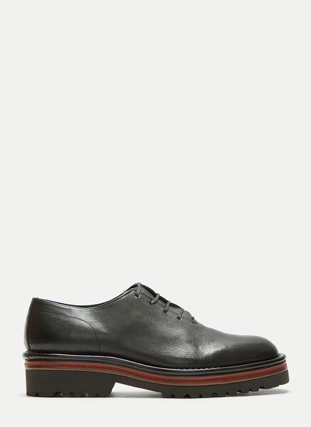 Contrast-Stitched Oxford Shoes
