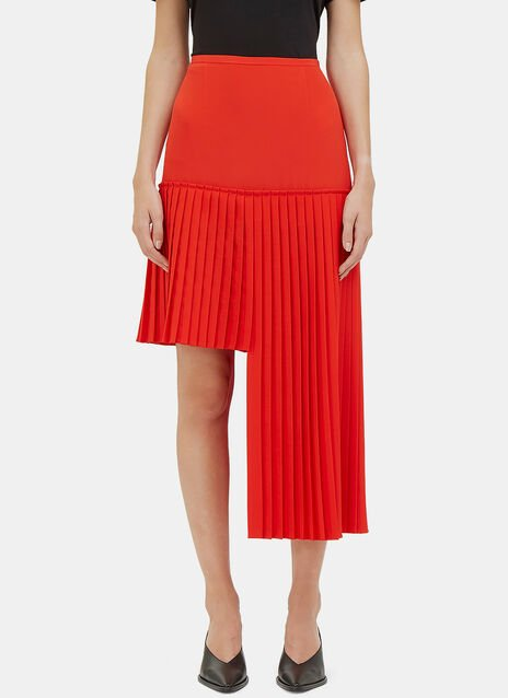 Arianna Asymmetric Pleated Skirt