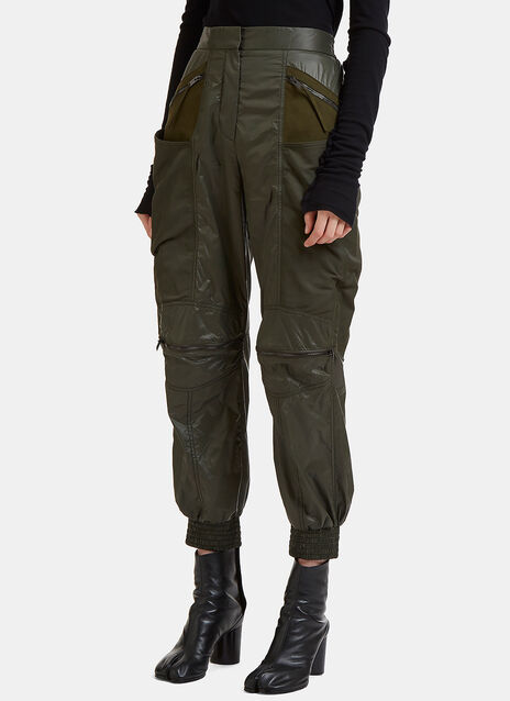 Stella Mccartney Faux Suede Panelled Technical Pants