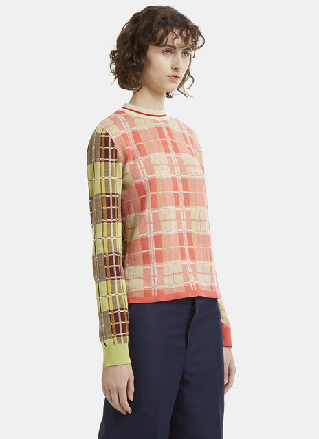 Marni Checked Knit Sweater