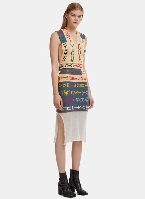 Eckhaus Latta Is This What You Wanted Intarsia Knit Dress