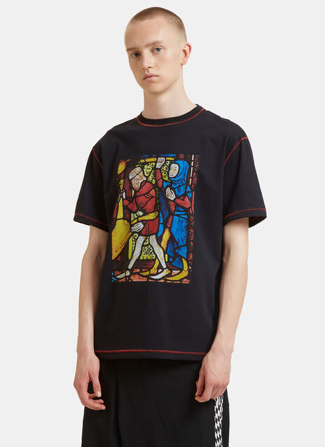 Stained Glass Window Print T-Shirt