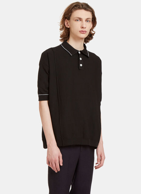 Oversized Tactile Woven Polo Shirt