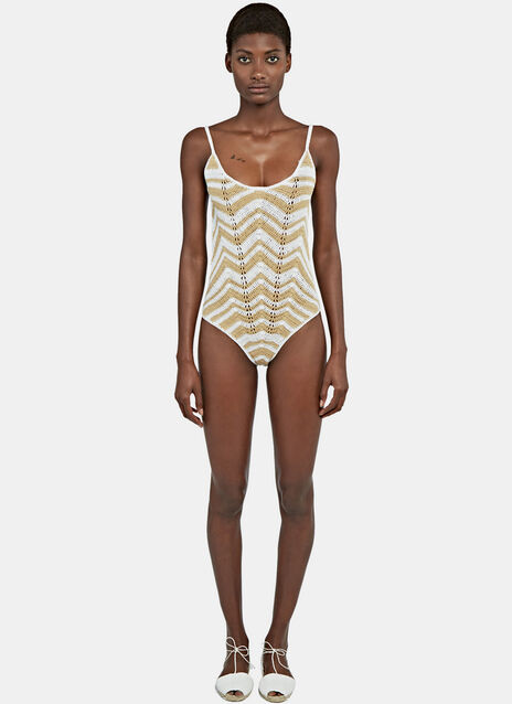 Honey Zigzag Swimsuit