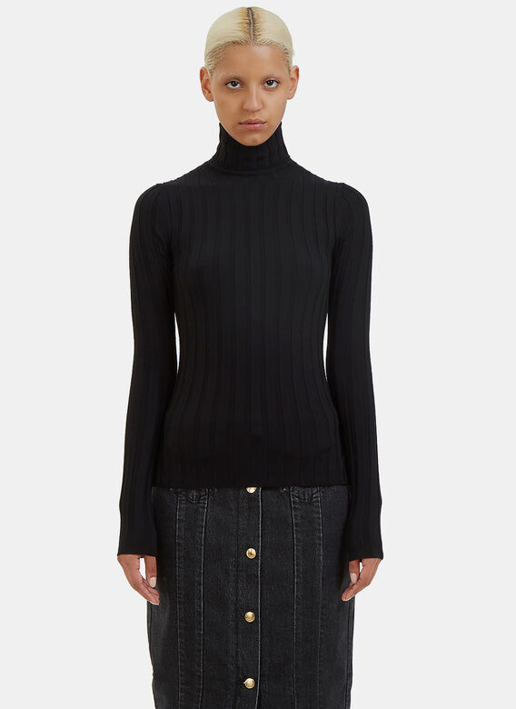 Acne Studios Corin Ribbed Roll Neck Sweater