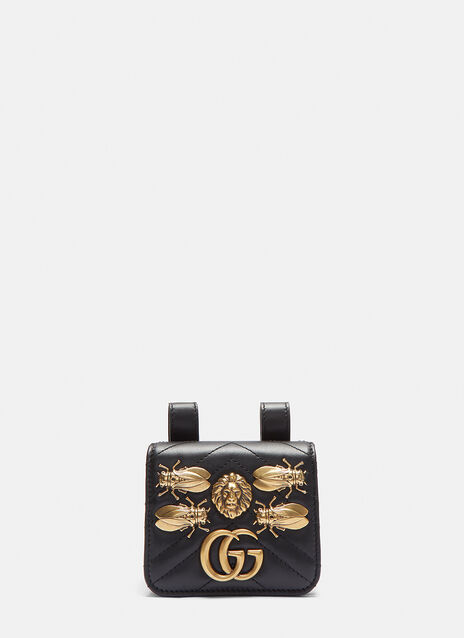 Gucci Mini Marmont Animal Stud Belt Bag