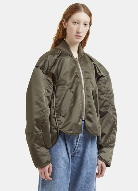 Hed Mayner Cut-Out Bomber Jacket