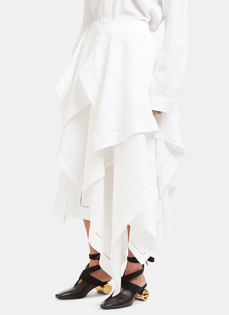 Asymmetric Handkerchief Skirt