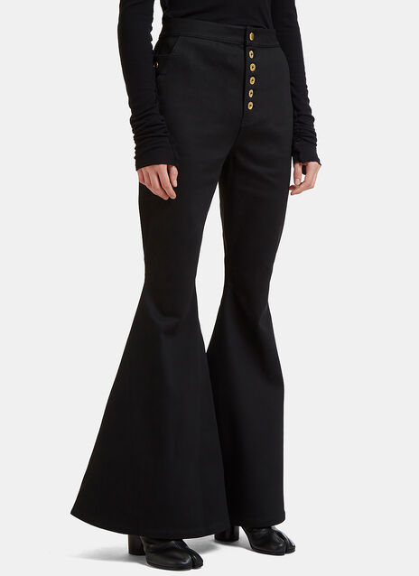 Ellery Ophelia Wide Leg Bell Bottom Pants