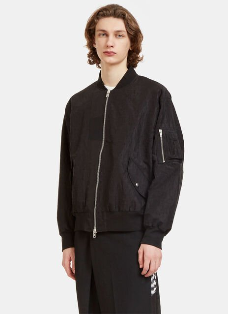 Oversized Creased MA1 Bomber Jacket