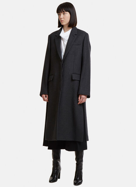 Tailored Single-Breasted Coat