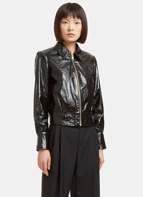 Cracked Patent Leather Jacket