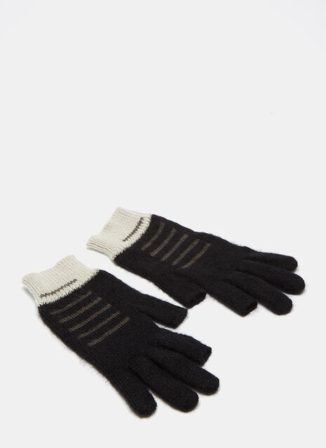Faded Mohair Knit Gloves