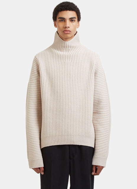 Nalle Ribbed Knit Roll Neck Sweater