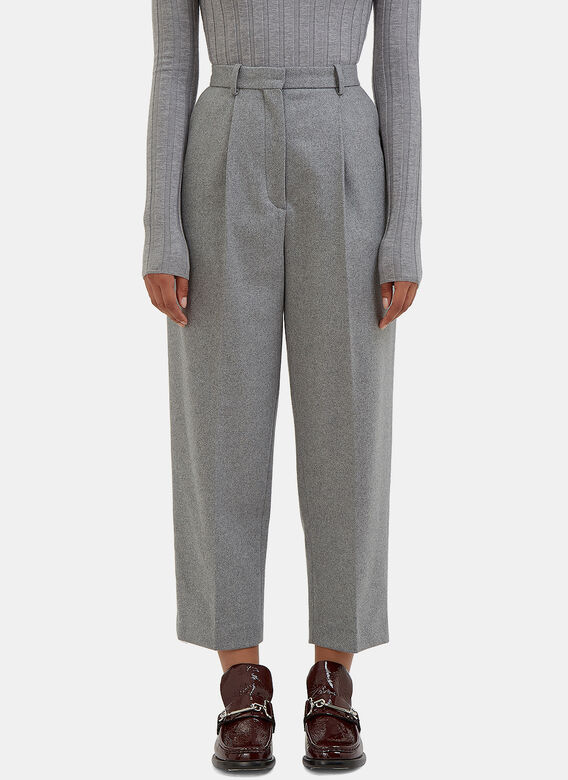 Acne Studios Milli High-Waisted Cropped Pants