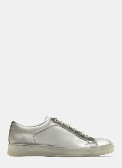 Lanvin Metallic Low Top Sneakers
