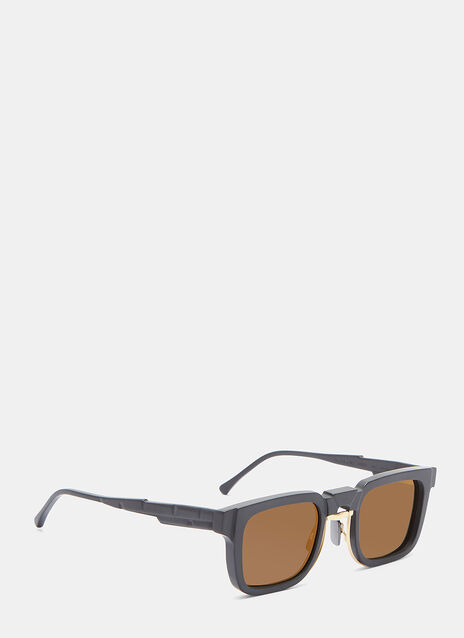 Mask N4 Matte Rectangular Sunglasses