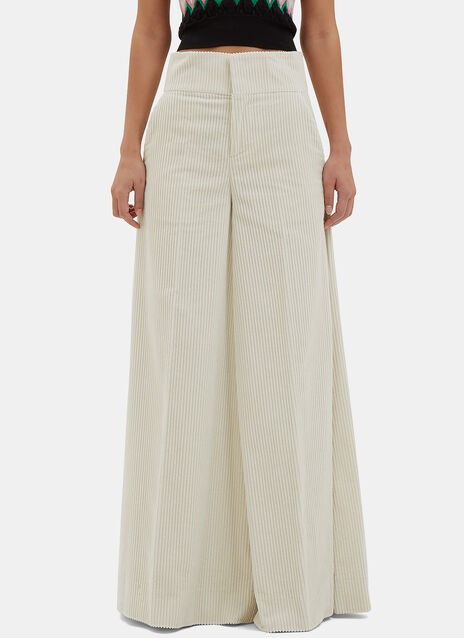 Wide Flared Corduroy Pants