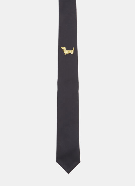 Thom Browne Hector Bullion Appliqué Tie