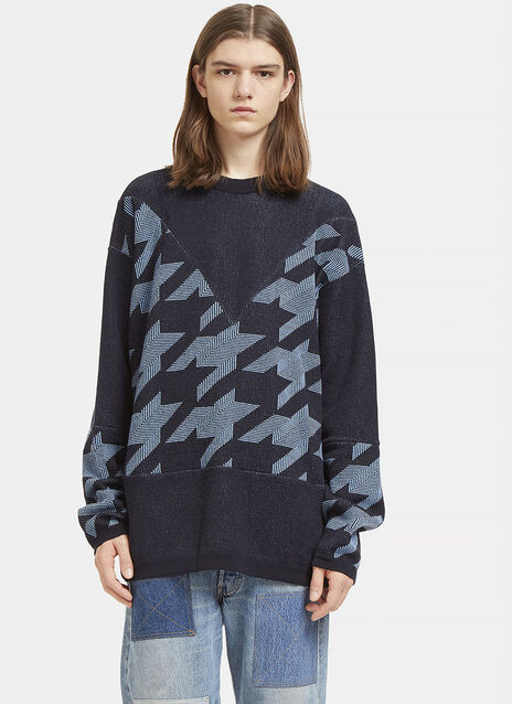 Star Intarsia Crew Neck Sweater