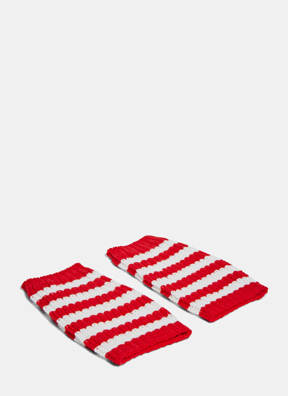Gucci Striped Knit Gloves