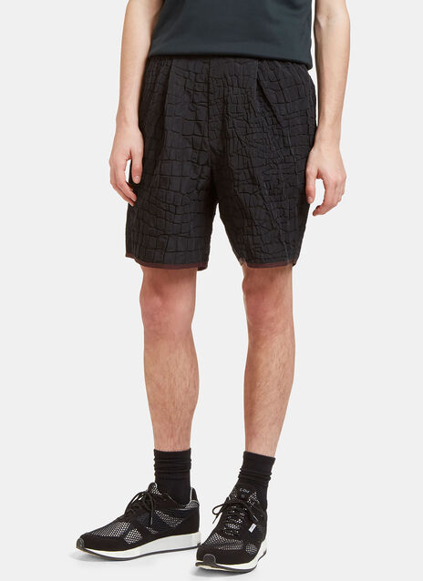 Crocodile Textured Shorts