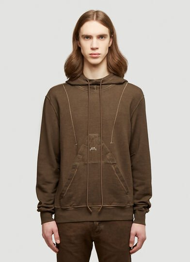 A-COLD-WALL* X Diesel Red Tag Overdyed Hood Sweatshirt in Brown