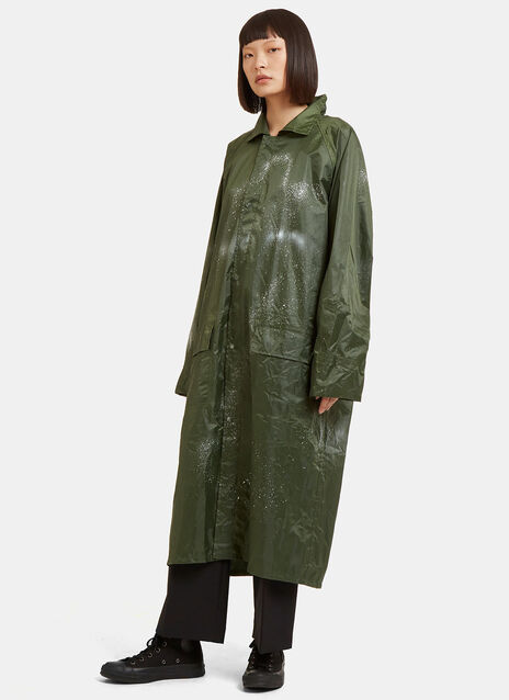 Aura Oversized Spray Painted Raincoat