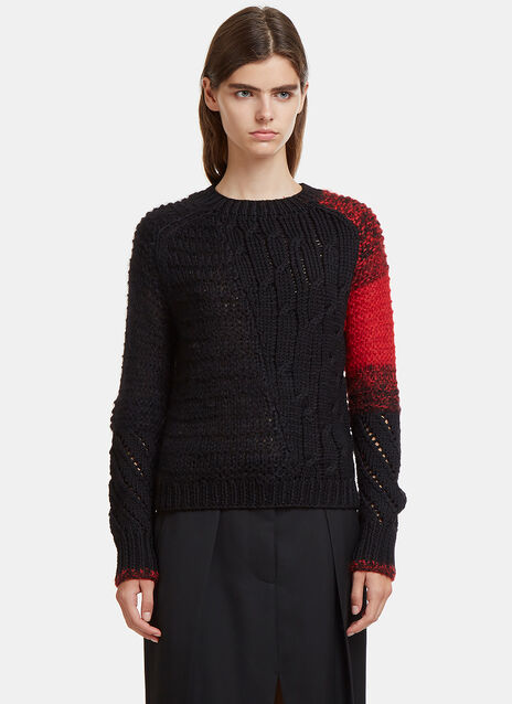 Helmut Lang Patchwork Knit Sweater