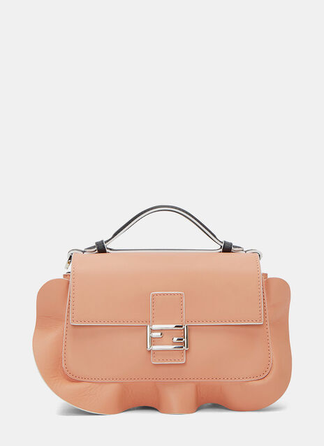 Micro Double Baguette Waved Frill Double-Sided Bag
