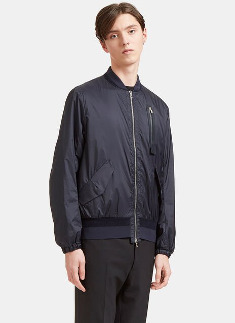 Mesh Panelled Bomber Jacket