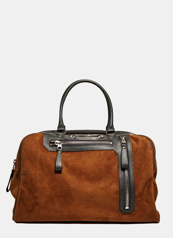 Kolor Suede Leather Luggage Bag