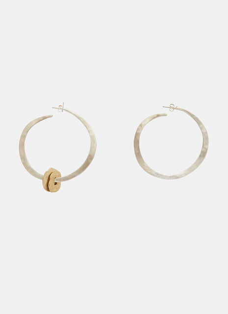 X Simon Miller Riven Hoop Earrings