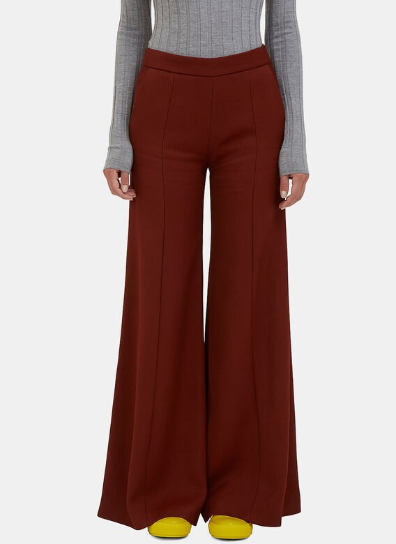 Acne Studios Melora High-Waisted Ribbed Pants