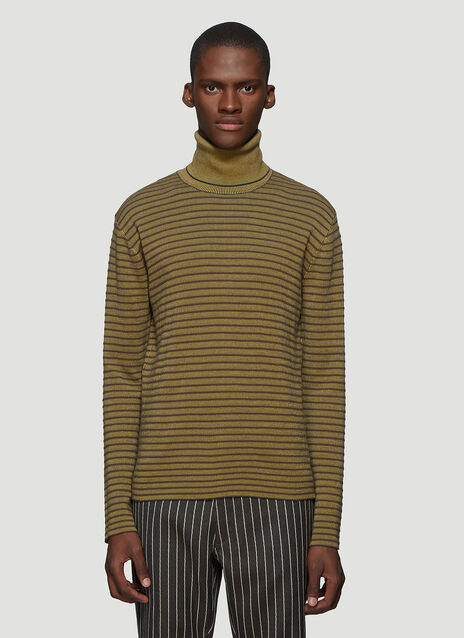 마르니 Marni Polo Neck Knit Sweater in Brown