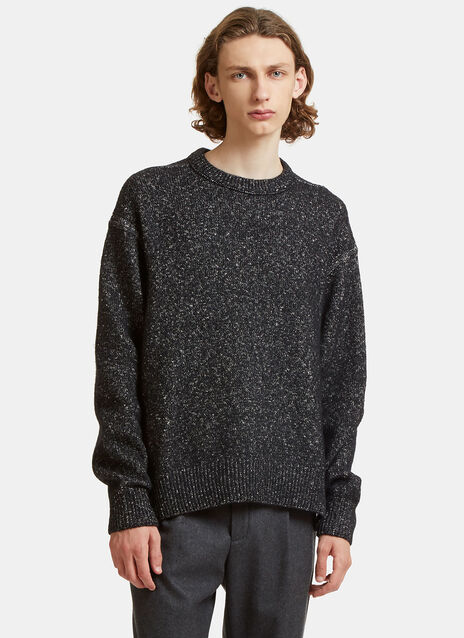 Nole Oversized Two-Tone Knit Sweater