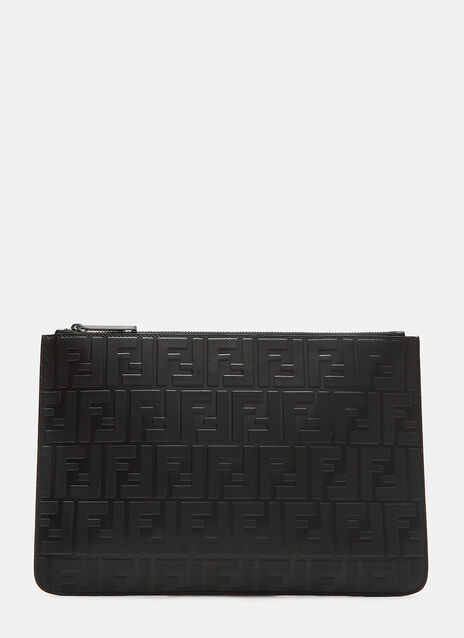 Fendi Embossed Logo Pouch